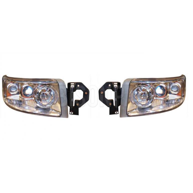 Renault Premium Version 2 (05-10) Version 3 (10 On) Headlight / Headlamp Clear Lens (5 Light Function) *Manual Adjust LH & RH (Pair Of)