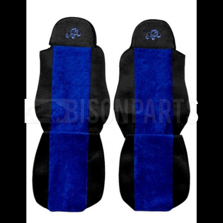 DAF LF / CF / XF SEAT COVERS PAIR (BLUE TRIM)