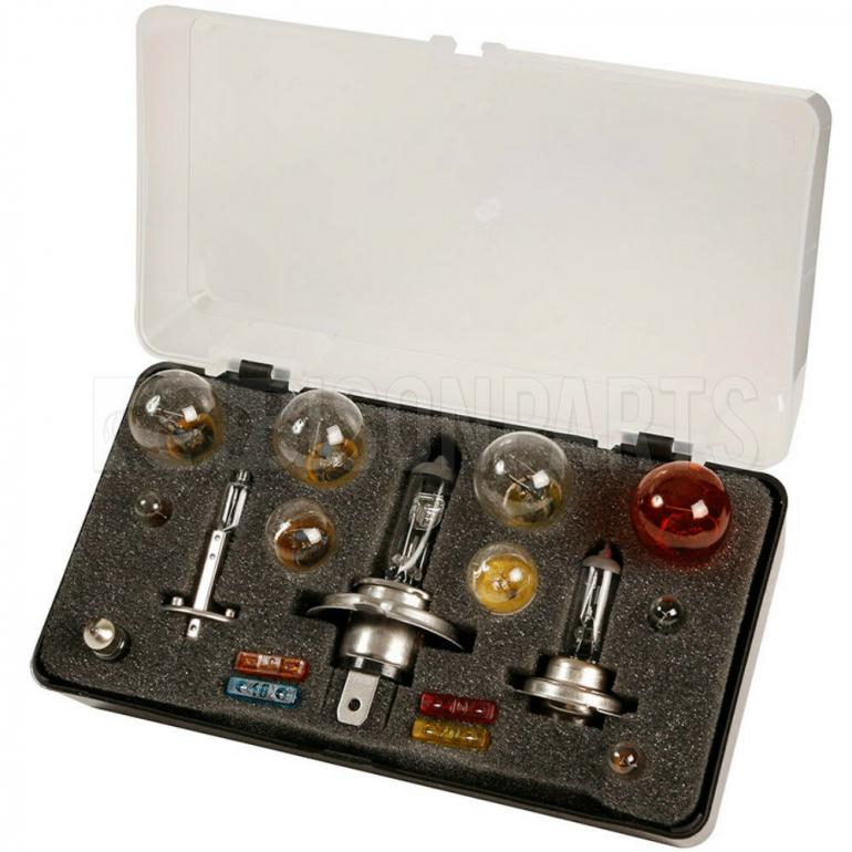 12 VOLT EMERGENCY SPARE BULB & FUSE TRAVEL KIT