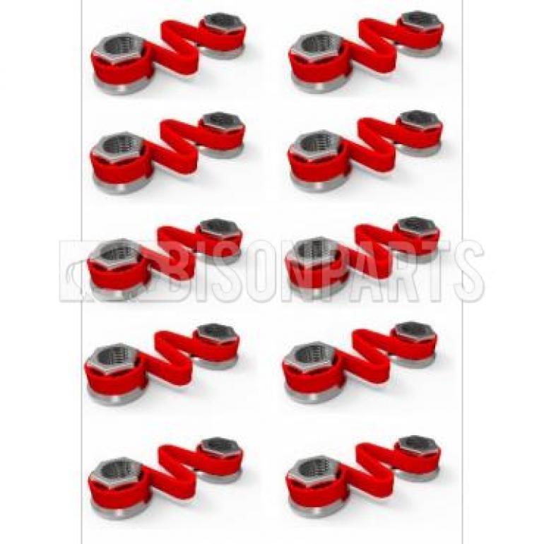 32MM WHEEL NUT CHECKLINK RED (PKT 10)