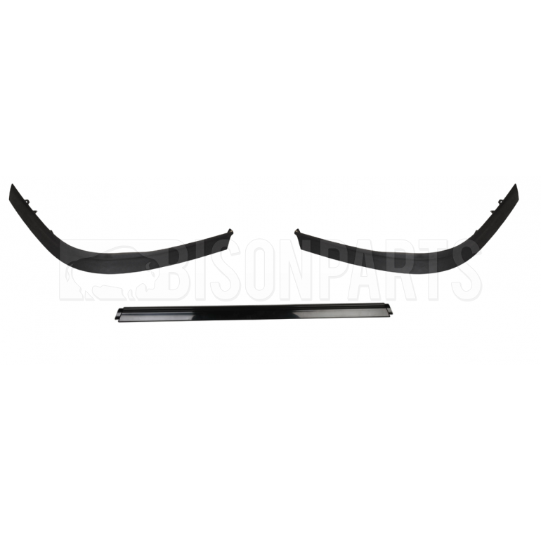 SPOILER 3 PIECE KIT BLACK (PLASTIC SMOOTH)