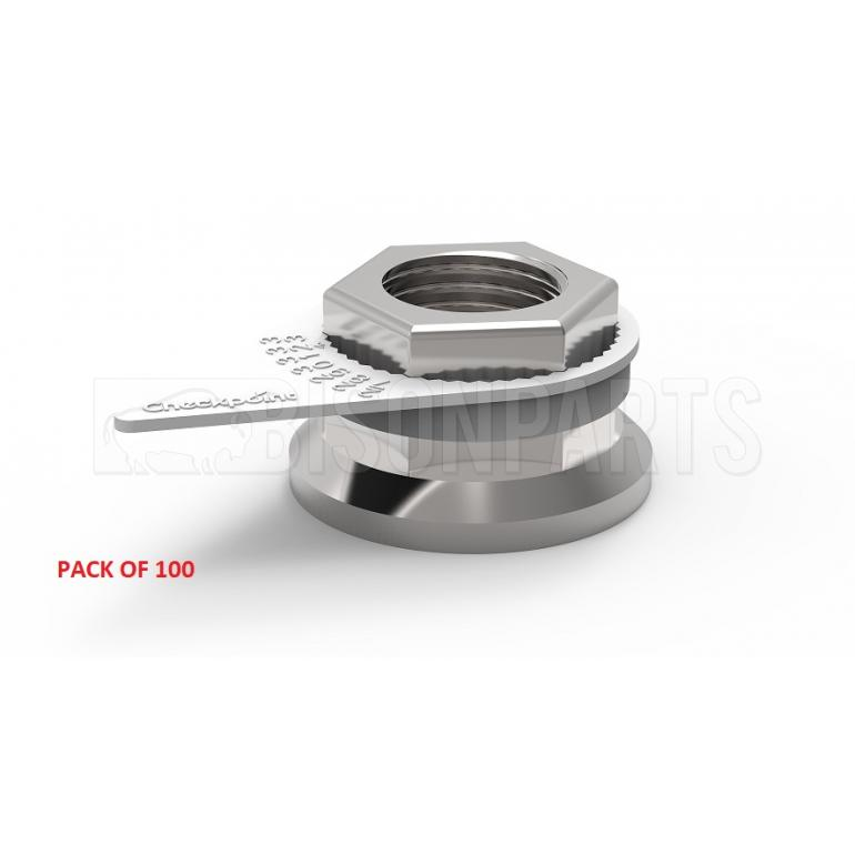 30MM WHEEL NUT INDICATOR WHITE (PKT 100)