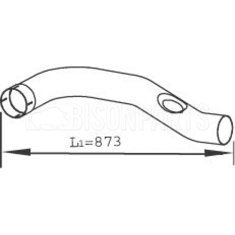 EXHAUST DOWNPIPE MIDDLE SECTION
