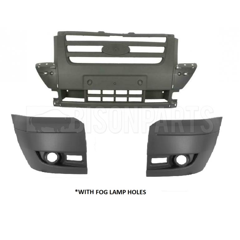 Ford Transit MK7 Drivers Front Bumper Corner Light Grey Lamp Holes O//S RIGHT