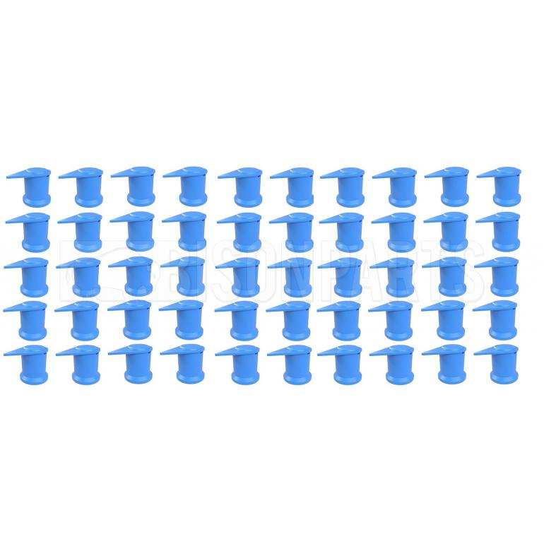 32MM LONG REACH DUSTITE WHEEL NUT COVERS BLUE (PKT 50)