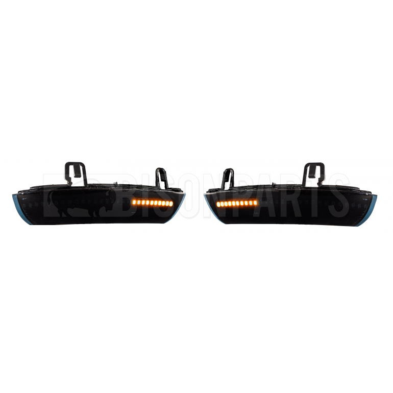 BLACK 28 LED DYNAMIC MIRROR INDICATORS RH & LH (PAIR)