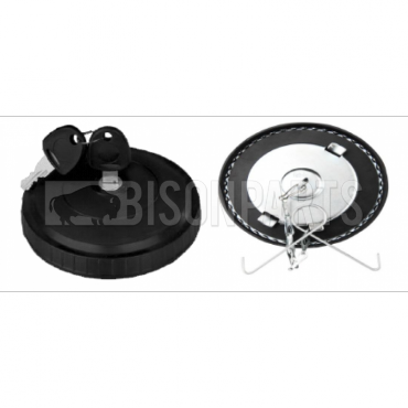 Universal 80mm Plastic Non Ventilated Bayonet Locking Cap (Round Shape)