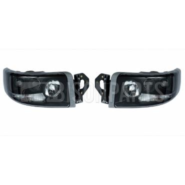 Renault Premium Version 2 (05-10) Version 3 (10 On) Headlight / Headlamp Smoked Lens (5 Light Function) Manual Adjust  LH & RH (PAIR OFF)