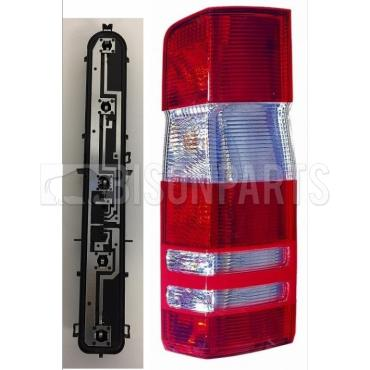 Bison Rear Tail Light Lamp Lens Complete with Bulb Holder and Bulbs Lh//Ns