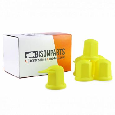32MM LONG REACH DUSTITE WHEEL NUT COVERS YELLOW (PKT 10)