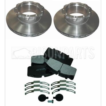 BMC PROBUS FRONT OR REAR BRAKE DISCS & BRAKE PADS (AXLE SET)