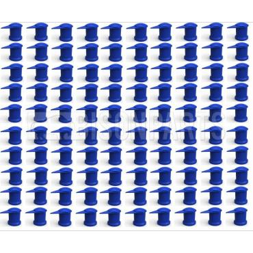 32MM LONG REACH DUSTITE WHEEL NUT COVERS BLUE (PKT 100)