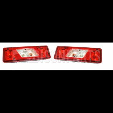 Bison Pair Of Rear Tail Light Lamp Lenses LH /& RH