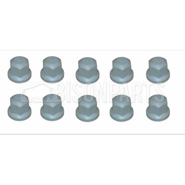 33MM GREY WHEEL NUT COVER (PKT 10)
