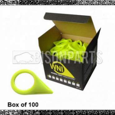 32MM WHEEL NUT INDICATOR YELLOW (PKT 100)