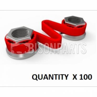 32MM WHEEL NUT CHECKLINK RED (PKT 100)