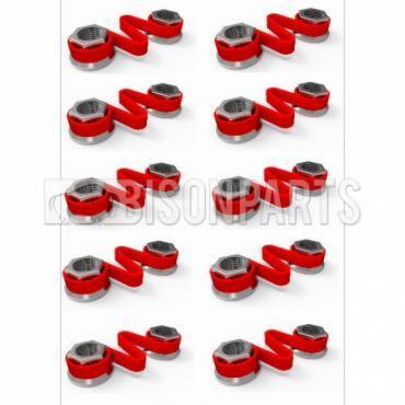 38MM WHEEL NUT CHECKLINK RED (PKT 10)
