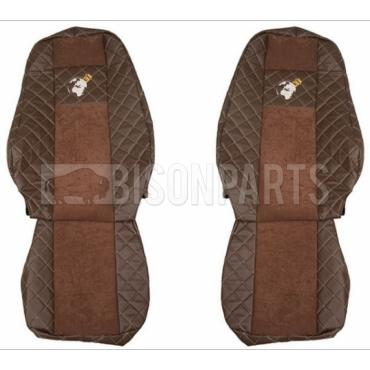VOLVO FH VERSION 4 EURO 6 (2013 on) Seat Covers Elegance (BROWN)