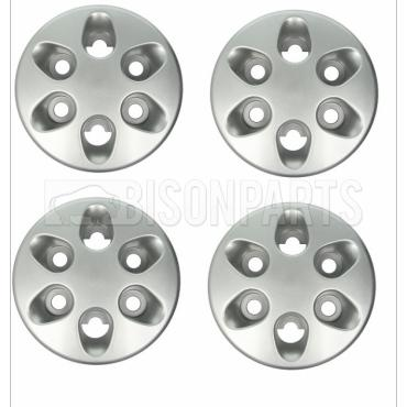 6 HOLE SILVER WHEEL HUB TRIM COVER FITS RH & LH (PKT 4)