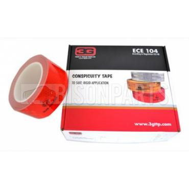 RED CONSPICUITY REFLECTIVE TAPE 12.5 METRES