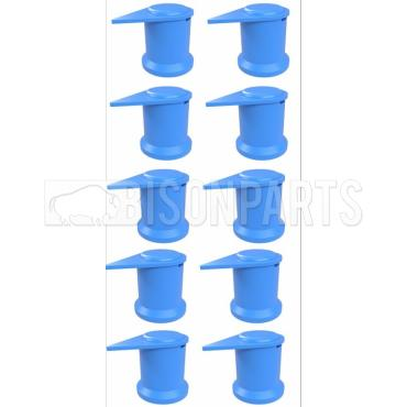 32MM LONG REACH DUSTITE WHEEL NUT COVERS BLUE (PKT 10)