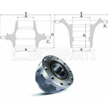 VOLVO Hub c/w Bearings Front Axle For Disc Brake