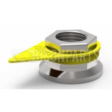 Yellow Checkpoint Loose Wheel Nut Indicator sizes range from 17mm - 50mm (Sold in Bags of 100)