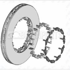 DAF CF & XF FRONT OR REAR BRAKE DISC C/W FITTING KIT