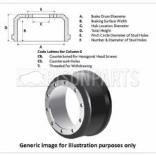 VOLVO F10 Series / FH Series (1993 - 1996) Rear Brake Drum (410 x 215 x 282 x 294 x 335 x 10x28 x 2T)
