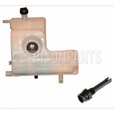 RENAULT KERAX & PREMIUM COOLANT RADIATOR EXPANSION HEADER TANK (THIS C/W SCREW TYPE SENSOR - 90 DEGREE TURN SENSOR VERSION DEALER ONLY)