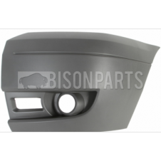 Ford Transit MK7 (2006-2014) Front Bumper Outer Dark Grey Section With Lamp Holes Passenger Side (N/S)