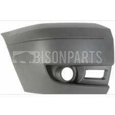 Ford Transit MK7 (2006-2014) Front Bumper Outer Dark Grey Section With Lamp Holes Driver Side (O/S)