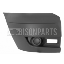Ford Transit MK7 (2006-2014) Front Bumper Outer Light Grey Section - No Lamp Holes Driver Side (O/S)