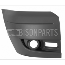 Ford Transit MK7 (2006-2014) Front Bumper Outer Light Grey Section With Lamp Holes Driver Side (O/S)