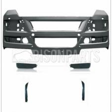 MAN TGX (07 On) Bumper Primed Grey Without Active Cruise Control C/W End Panels & Bumper Corners (As Pictured)