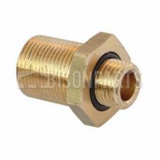 Raufoss Brass Push-in Straight Bulkhead Adaptor - Thread M16