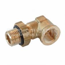 Raufoss Brass Push-in Elbow - Thread M16