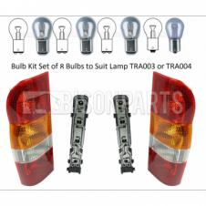 Ford Transit MK6 2000-2006 Panel Van Pair of Rear Combination Lamps With Bulb Holders and Bulbs LH & RH