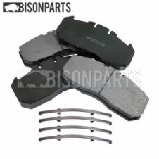 ERF, MAN, MERITOR, RENAULT FRONT or REAR BRAKE PAD SET WITH FITTING KIT