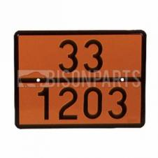 ADR HAZARD WARNING PLATE  33 -1203 FOR PETROL