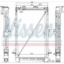 Radiator to suit DAF 85 CF (98-), CF 85 (01-) 950 x 610 x 58