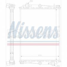 Radiator to suit DAF 65CF 75CF 85CF (1998-) 65 75 (1993) 806 x 610 x 48 W/O Frame