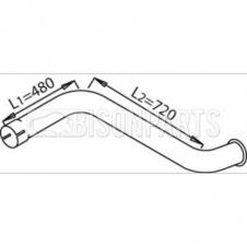 DAF 1300, 1500, 1700, 1900, 2100, 2106 EXHAUST REAR PIPE