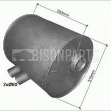 DAF SB3000 BUS EXHAUST SILENCER BOX