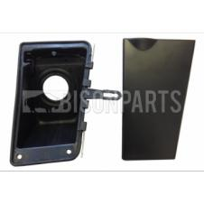 FUEL FILLER NECK HOUSING C/W RUBBER SEALS & FLAP