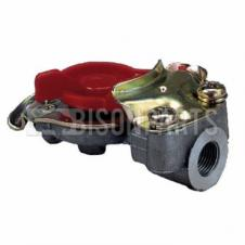 TRAILER AIR LINE LIGHT WEIGHT ALLOY RED PALM COUPLING M16x1.5 TAPERED