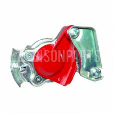 TRAILER AIR LINE LIGHT WEIGHT ALLOY RED PALM COUPLING WITH SELF SEALING VALVE M16x1.5 TAPERED