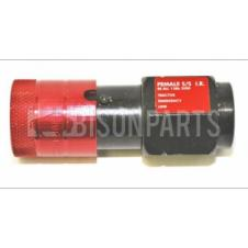 TRAILER AIR LINE FEMALE SELF SEALING VALVE WITH FEMALE C COUPLING M16X1.5