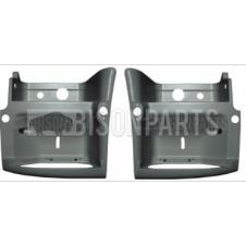 Renault Premium Version 2 (05-10) Version 3 (10 On) / Volvo FE Step Surround PRIMED GRAY LH & RH (Pair Of)