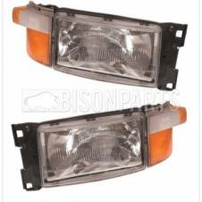 PAIR OF Scania 4 Series P & R Cab (95-04) 5 Series P & R Cab (04-10) Headlamp *Complete With Indicators LH & RH